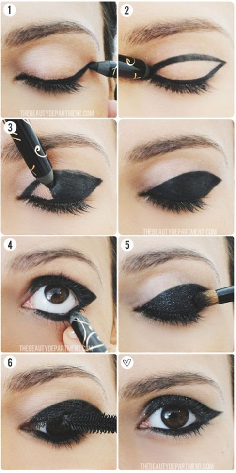 I have done a similar look on my blue eyes, its really pretty but looks much more intense on pale skin with blue eyes :)