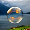 """ Morning light reflected in a soap bubble over the fjord by (Odinodin) 