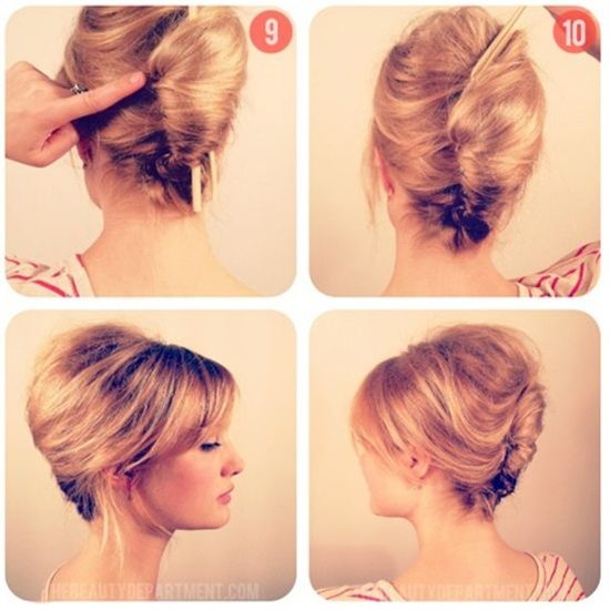 vintage hairstyle to try at home.
