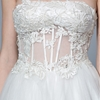 Chic Strapless Illusion Waist Simple Wedding Dress