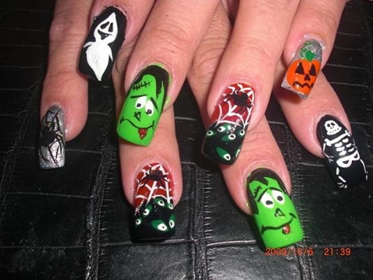 Halloween Nails Acryl Nails