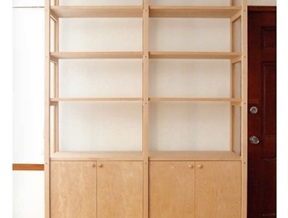 High/Low: Wooden Bookcase with Cabinets