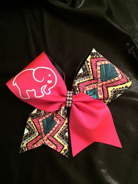 Elephant Cheer Bow by CheerBowsBowtique on Etsy