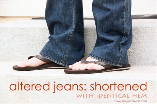 I'm sooo short that every pair of jeans are too long. So simple a novice like me can do it!!!