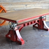 Vintage Industrial Crank Table Designs Crank Up Your Decor