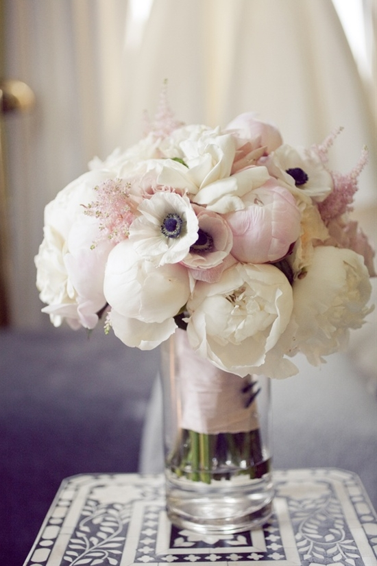 Bouquet of peonies and anemones