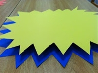Make Your Own 3 Dimensional Sign >> both good for program promotion and an actual program (room deco)?