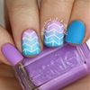 Gradient arrowhead nail art! Read my blog post here!