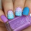 Gradient arrowhead nail art! Read my blog post here!