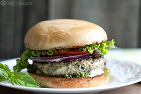 Turkey Zucchini Burger with Garlic Mayo