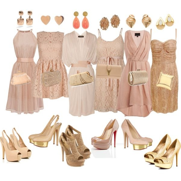 Mismatch Bridesmaid Dresses by kathybitanga on Polyvore