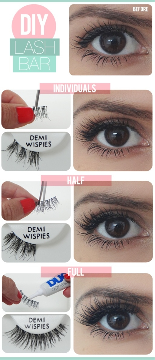 Customize your false lashes. Definitely will try this! :-)
