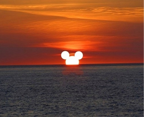 Mickey Mouse Sunset