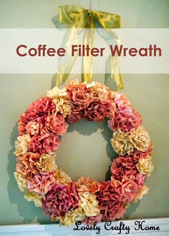 my favorite coffee filter wreath I have seen