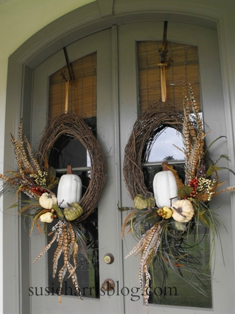Susie Harris' Fall wreath