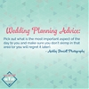 Wedding Planning Advice: Don't Skimp On What's Important