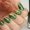 Water Spotted Nails with Dance Legend - Wazowski / The Lacquer Legion challenge for Adoration