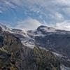 Gigjökull: Blick auf den Gigjökull, einem Gletscher des...