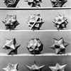 "Prof. Dr, Max Bruckner, Four Plates from the Book ""Vielecke und Vielflache"", (1900) Regular convex polyhedra, frequently referenced as ""Platonic"" solids, are featured prominently in the philosophy of..."