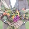 Fall Wedding Ideas with a Floral and Wheat Bouquet