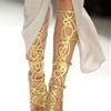 lattice in gold high heel shoes   Sandals of the Season: Gold Louboutin Gladiators