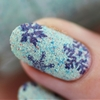 Textured Snowflakes feat. MoYou London & Kiko Cosmetics