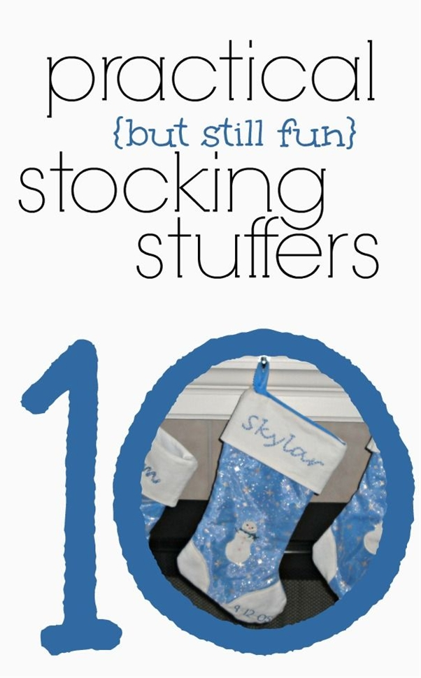 Great list of stocking stuffer ideas! #5 is such a good idea!
