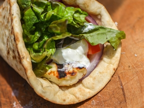 Grilled Halloumi Pita Sandwiches