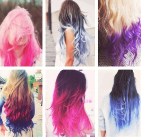 Ombre hair color has become a trend. Many a Hollywood celebrities do this for their hair.