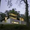 A Temple of Relaxation and Light in the Woods: Black White Residence