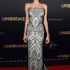 "Angelina Jolie Stuns in Gucci Lace at ""Unbroken"" Sydney Premiere"