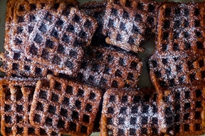 deep dark gingerbread waffles