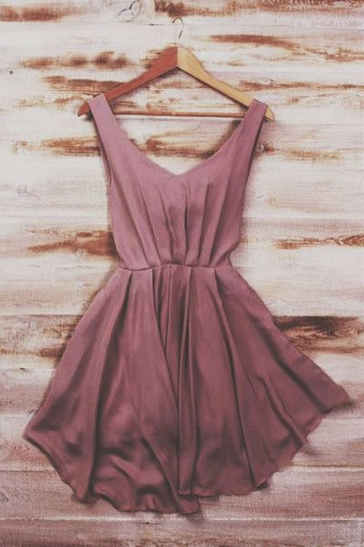 Dusty Rose Dress cute for a summer outing or complete it with black or grey heals and its the perfect night dress.