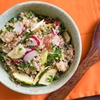 Toasted Bulgur Salad With Smoked Trout, Radishes, and Green Apple