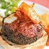 Grilled Mozzarella-Stuffed Italian Sausage Burgers With Vinegar Peppers