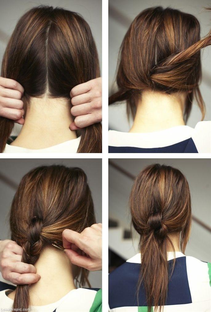 nice hair tie tutorial
