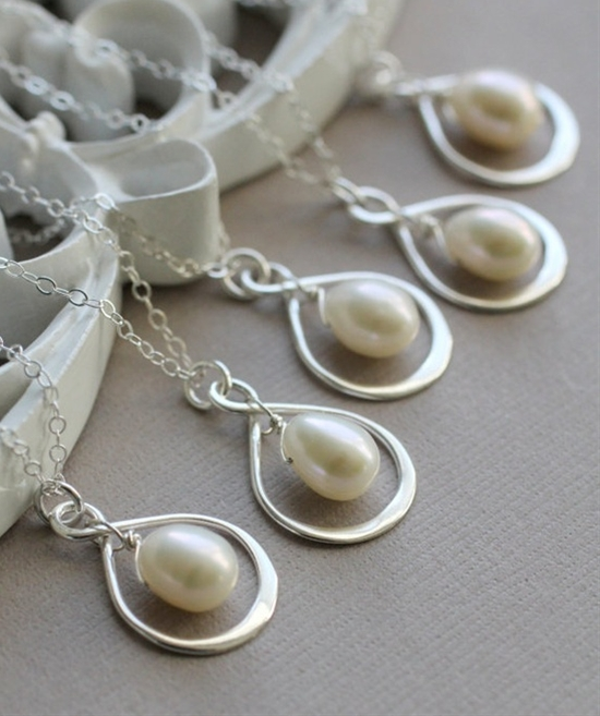 Infinity Bridesmaid Necklaces - Set of FIVE