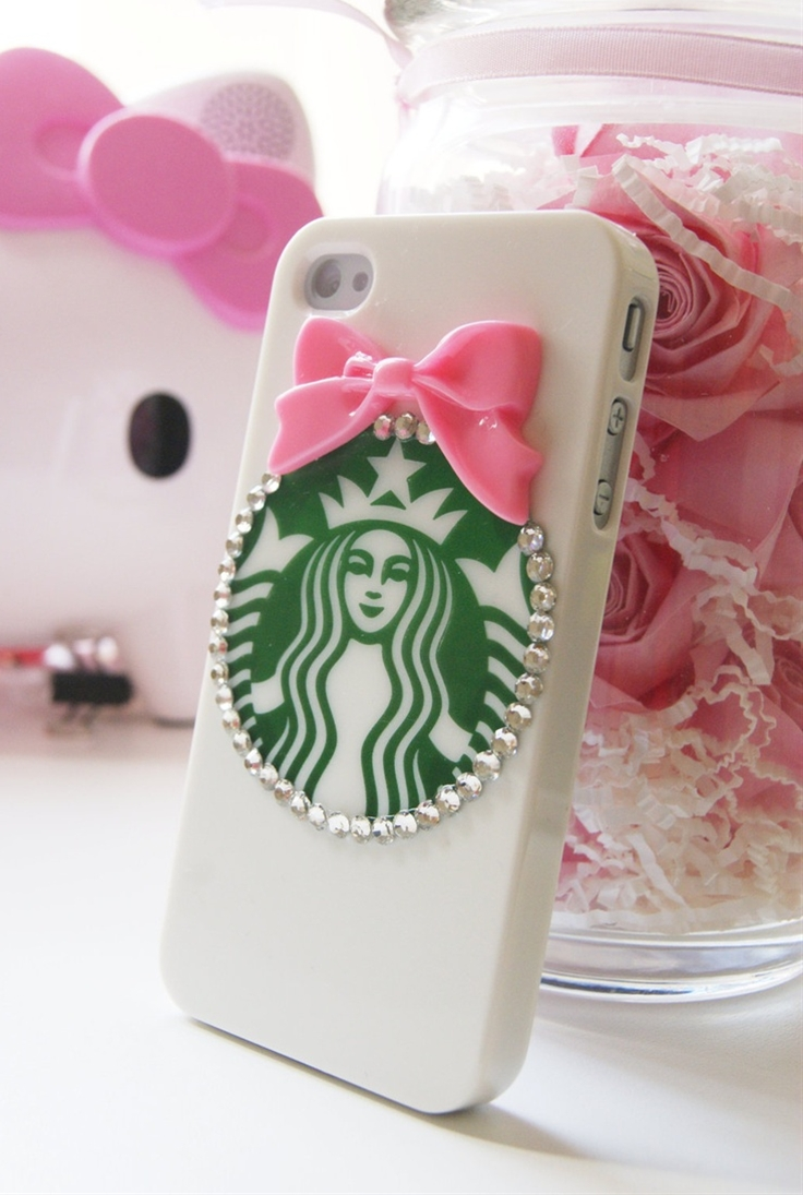 This cute cell phone case is completely hand crafted. Cabochons are glued on with a high quality, industrial strength glue to ensure that they do not fall off.