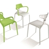 Colorfully Dynamic Stackable Shark Chairs by Green