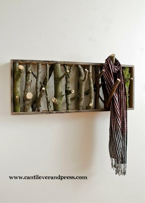 a lovely idea for coat hooks