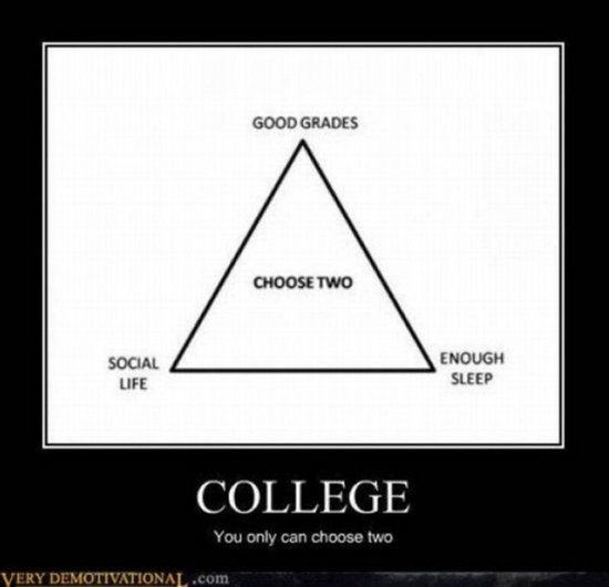 COLLEGE you can only choose two.