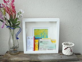 Memory box for ticket stubs