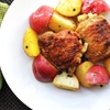 Chicken Thighs With Saffron, Lemon, and Red Potatoes