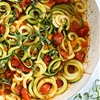 Quick Spiralized Zucchini and Grape Tomatoes
