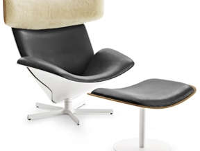"Doshi Levien's Almora lounge chair for B&B Italia feels like being ""wrapped in a soft, warm blanket"""
