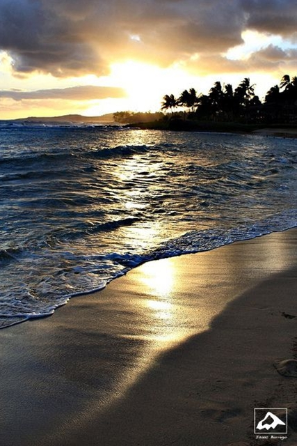 Poipu Beach on the south shore of Kauai is one of the best places on the island to watch the sunset.