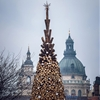 Hello Wood builds Budapest Christmas tree from 5000 pieces of firewood