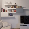 Stylish LACK and BESTA bookshelf
