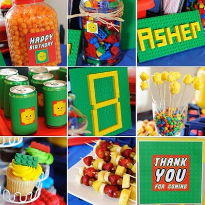 My boys are incredibly obsessed with Legos. So of course it was a no-brainer when deciding what kind of party to throw for my 8-year-old. I had a lot of fun decorating the table. And the kids definitely had fun eating all the treats (along with some pizza).