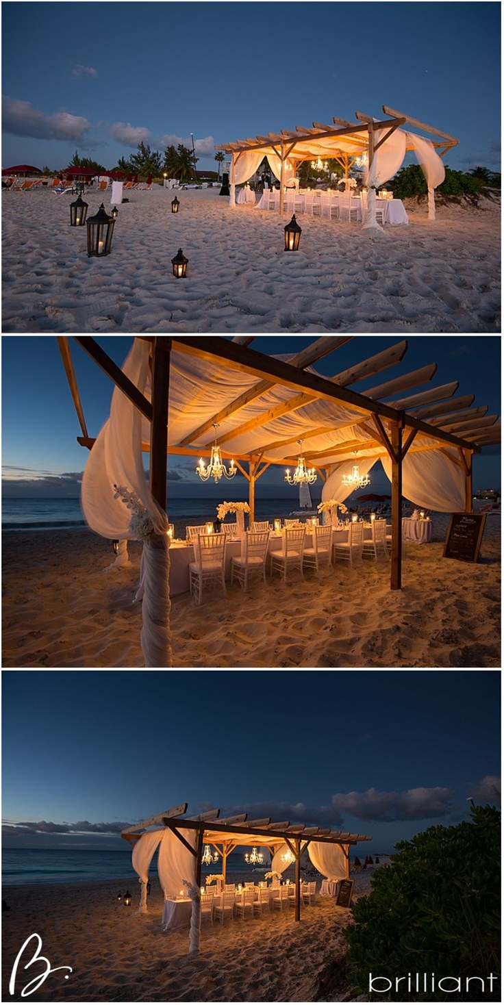 The wedding ceremony and reception took place at Grace Bay beach were Teresa and her team from Tropical DMC did an incredible job with the wedding decorations and planning for the day.